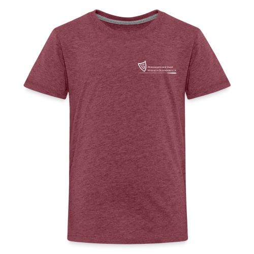 Logo weiß - Teenager Premium T-Shirt