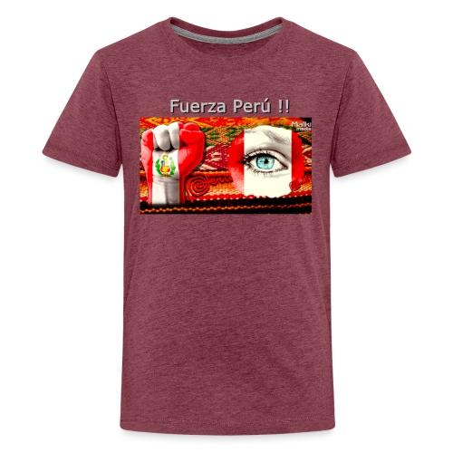 Telar Fuerza Peru I - Teenage Premium T-Shirt