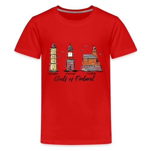 Söderskär, Harmaja, Porkkala Majakkatuotteet Shop - Teinien premium t-paita
