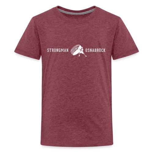 Strongman Logo weiß - Teenager Premium T-Shirt