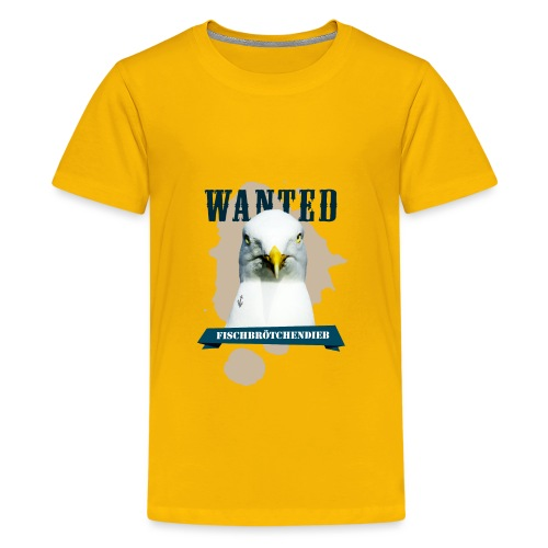 WANTED - Fischbrötchendieb - Teenager Premium T-Shirt