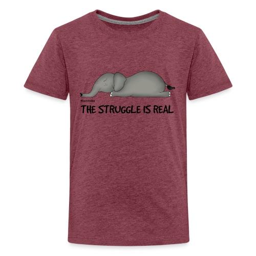 Amy's 'Struggle' design (black txt) - Teenage Premium T-Shirt