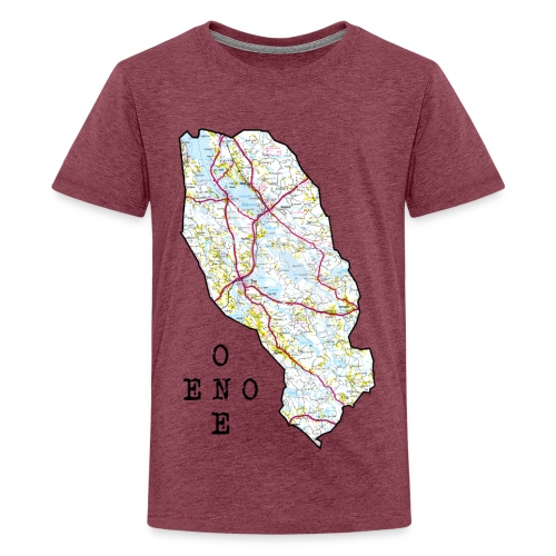 Eno/One maailmankartalle - Teinien premium t-paita