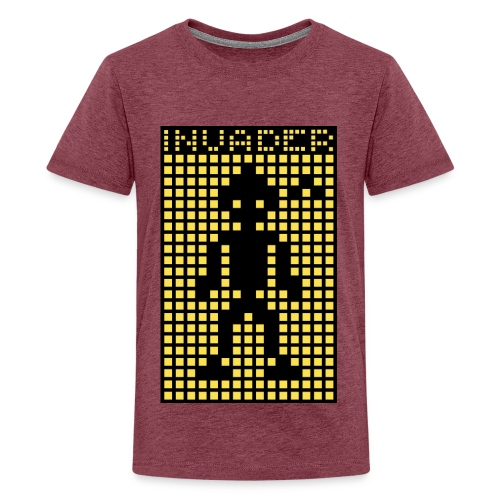 Invader (the greys) - Teenage Premium T-Shirt