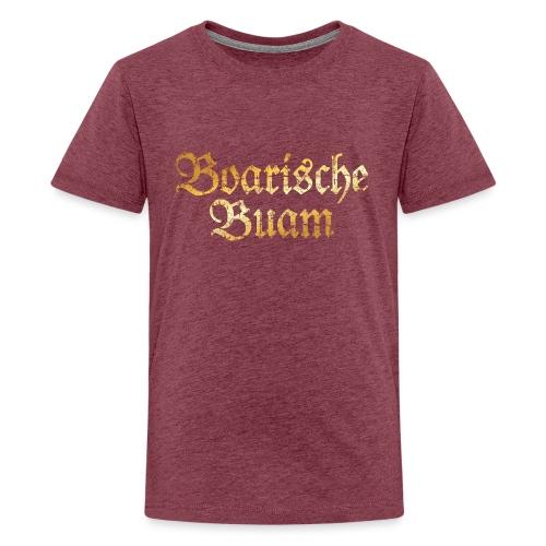 Boarische Buam - Bayerische Buben (Vintage/Gelb) - Teenager Premium T-Shirt