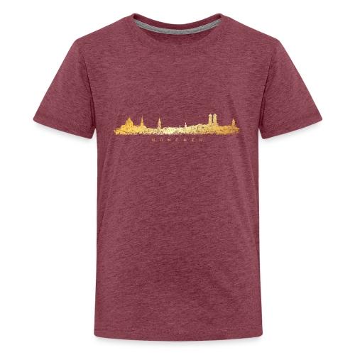 Münchener Skyline (Vintage/Goldgelb) München - Teenager Premium T-Shirt