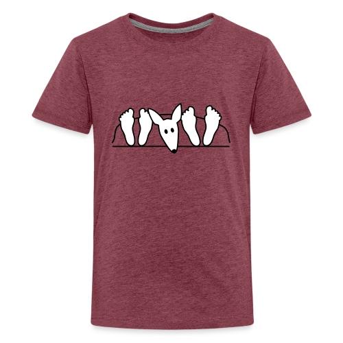 Podenco im Bett - Teenager Premium T-Shirt