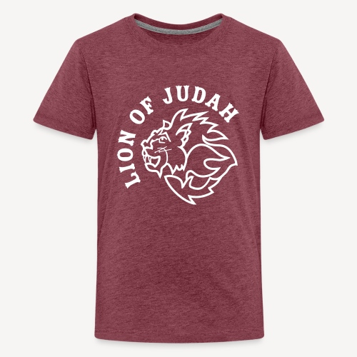 LION OF JUDAH - Teenage Premium T-Shirt