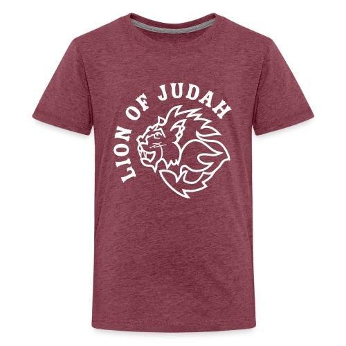LION OF JUDAH - Teenage Premium T-Shirt
