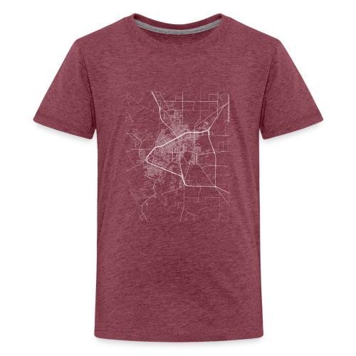 Minimal San Angelo city map and streets - Teenage Premium T-Shirt