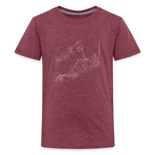 Minimal The Hamptons city map and streets - Teenage Premium T-Shirt