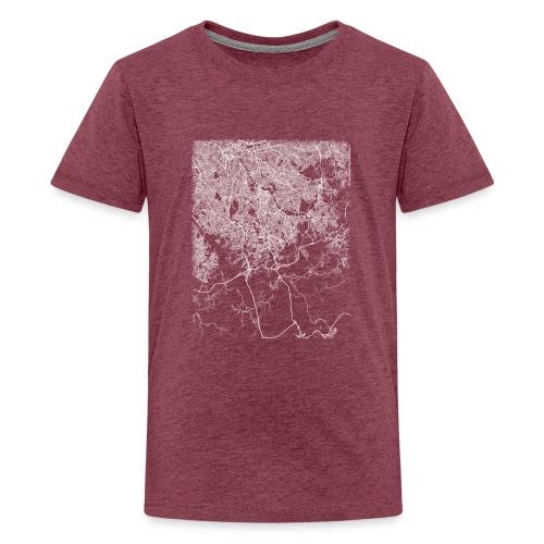 Minimal São Bernardo do Campo city map and streets - Teenage Premium T-Shirt