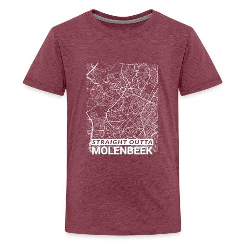 Straight Outta Molenbeek city map and streets - Teenage Premium T-Shirt