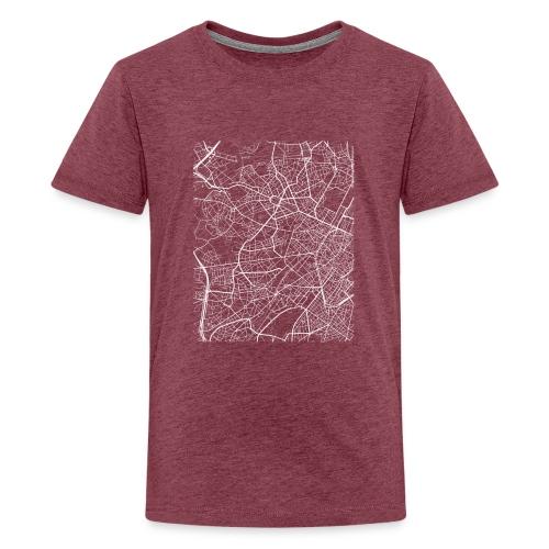Minimal Molenbeek city map and streets - Teenage Premium T-Shirt