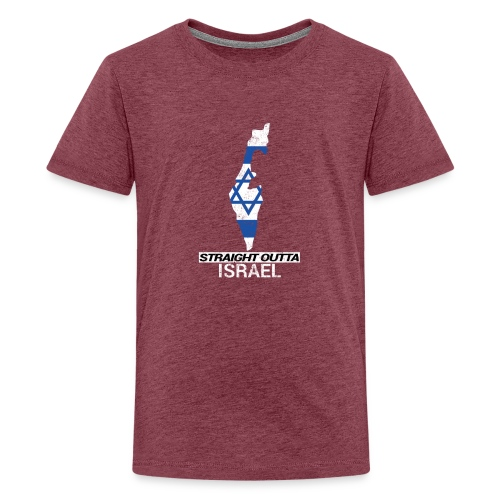 Straight Outta Israel country map & flag - Teenage Premium T-Shirt
