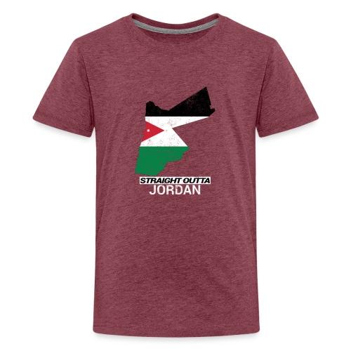 Straight Outta Jordan country map - Teenage Premium T-Shirt