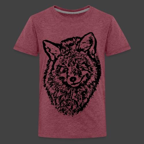 FOX1 - BLACK - Teenage Premium T-Shirt