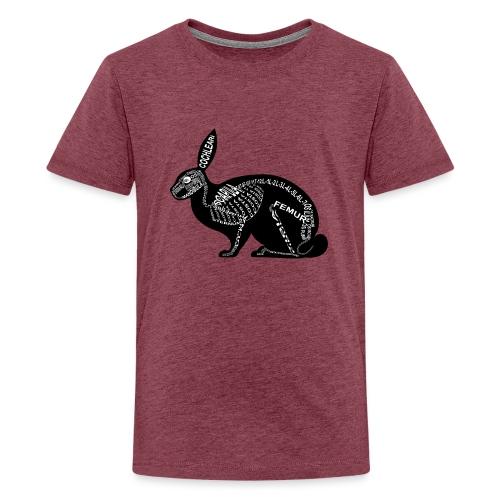 Hasen-Skelett - Teenager Premium T-Shirt