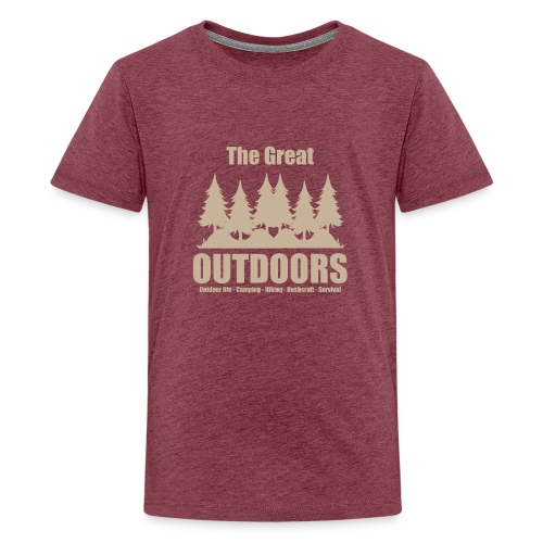 The great outdoors - Clothes for outdoor life - Teenage Premium T-Shirt