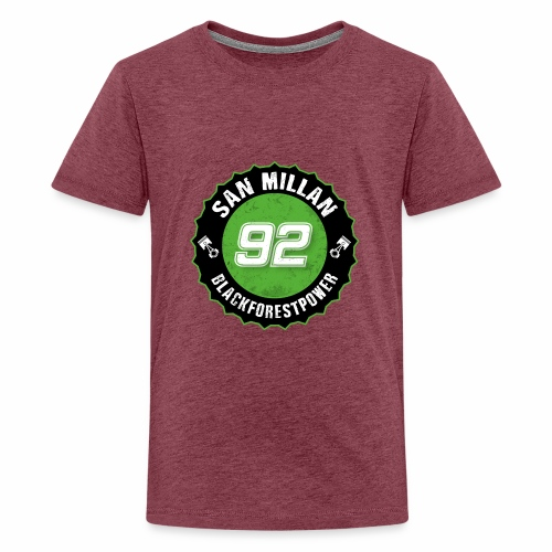 San Millan Blackforestpower 92 rund - schwarz - Teenager Premium T-Shirt
