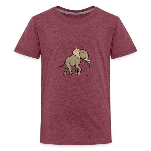 African Elephant - Premium T-skjorte for tenåringer