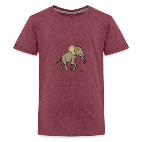 African Elephant - Teenage Premium T-Shirt