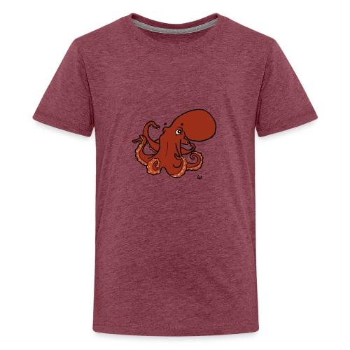 Giant Pacific Octopus - Teenage Premium T-Shirt