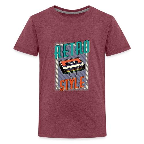 MUSIC RETRO STYLE 01 - Maglietta Premium per ragazzi