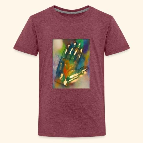 Hand in bunt - Teenager Premium T-Shirt