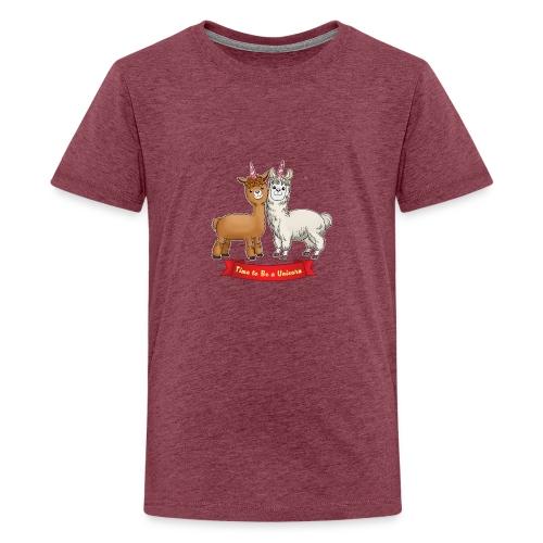 Time to Be a Unicorn 12x14 CMYK - Teenager Premium T-Shirt