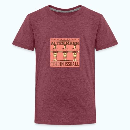 Tischfussball Freunde - Teenage Premium T-Shirt
