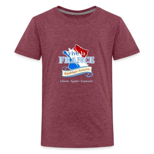 vive la France Frankreich République Française - Teenage Premium T-Shirt
