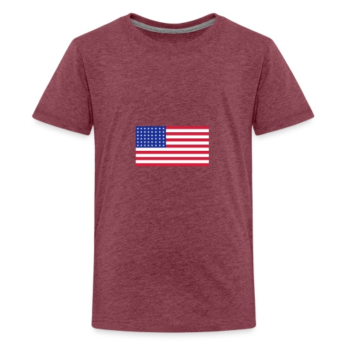 AVM 48 star flag in 3 color RGB VECTOR - Teenager Premium T-shirt