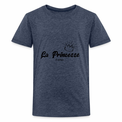 princesse couronne NOIR - T-shirt Premium Ado