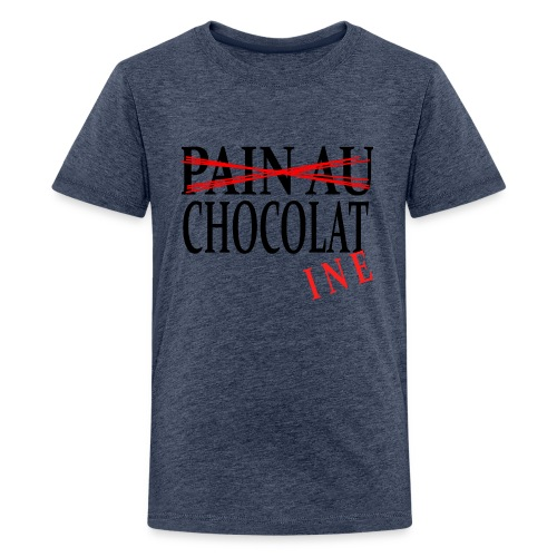 Pain au chocolat? Non, chocolatine - T-shirt Premium Ado