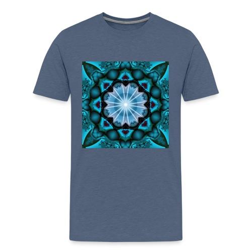 türkieses Fraktal - Teenager Premium T-Shirt