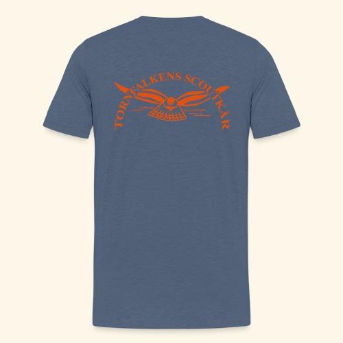 Tornfalkens scoutkår Logo - Premium-T-shirt tonåring