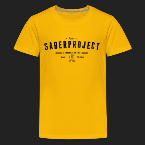 Vintage Lightsaber Action - Teenager Premium T-Shirt