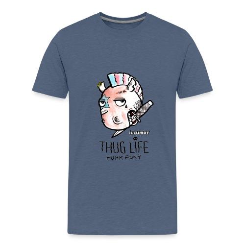 Stef 0004 00 Das Leben ist kein Ponyhof - Teenager Premium T-Shirt