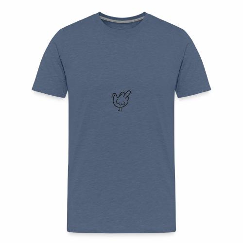Huhn mit Mittelfinger - Teenager Premium T-Shirt