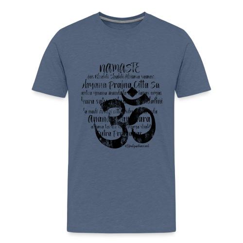 OM - Namaste black rugged - Teenager Premium T-Shirt