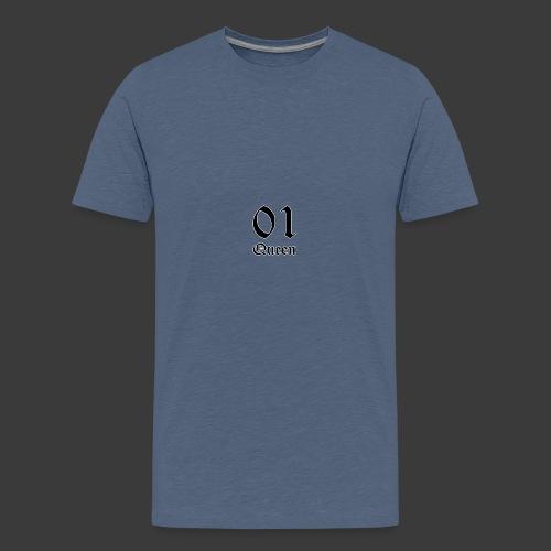 01 Queen in alter Schrift - Teenager Premium T-Shirt
