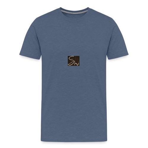 Black Shi Logo T-shirt - Teenage Premium T-Shirt