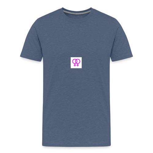 lesbian logo - T-shirt Premium Ado