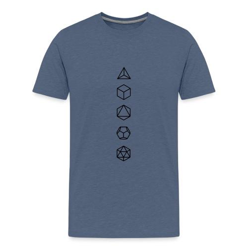 Platonische Körper Bausteine des Lebens Elemente - Teenager Premium T-Shirt