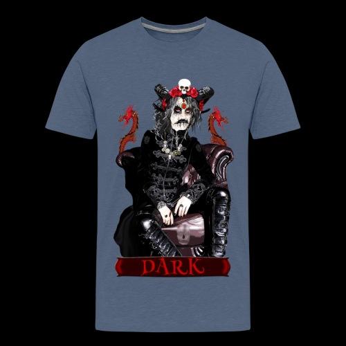 Créature gothique assise avec crânes et dragons - T-shirt Premium Ado