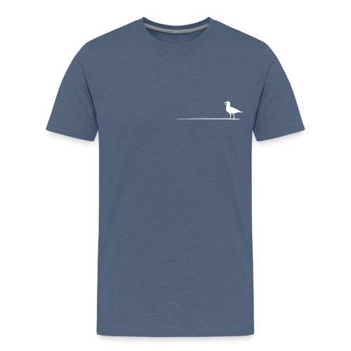 Möwe auf dem Strich - Teenager Premium T-Shirt
