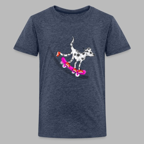 Spotty Skateboarder - Teenage Premium T-Shirt