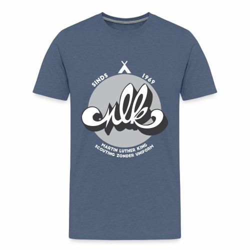 MLK scouting 50 jaar - wit - Teenager Premium T-shirt
