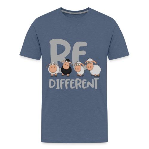 Be different Schafe: Einzigartiges schwarzes Schaf - Teenager Premium T-Shirt
